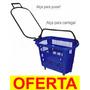 Cestinha Com Rodinhas Supermercado Cesta Carrinho Compras