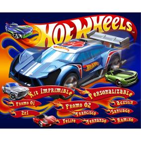 Kit Imprimible Candy Bar Golosinas Hot Wheels Tarjetas 2x1