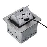 Lew Eléctrico Pufp-ct-ss-2usb Encimera Box, Pop Up W / 15a I