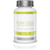 Óleo De Coco Pure Coco Extravirgem 60 Capsula 1000 Mg