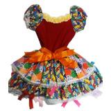 Vestido Festa Junina Modelo Boneca Infantil (p)