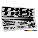 Adesivo Trek Superfly Mtb Speed 10 Cores Frete Gratis