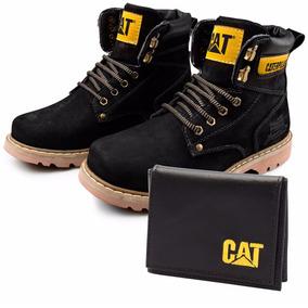 Bota Caterpillar Cat Steel Toe Original+ Brinde Frete Gratis