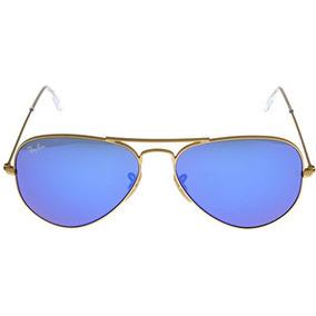 25d2b77267a37 Ray Ban 3025 112 17 Aviator Lente Azul Marco Dorado - Gafas De Sol ...