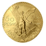 Moneda Mexicano De Oro Tasación