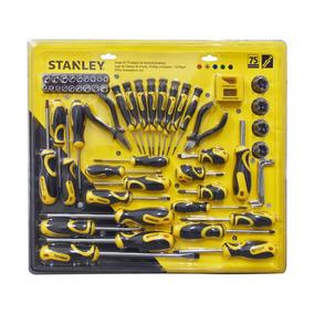 Juego Desarmadores 75 Piezas Con Organizador 74-008 Stanley