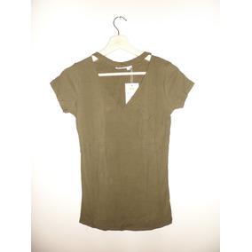 Camiseta De Dama, Color Verde Militar Talla Única
