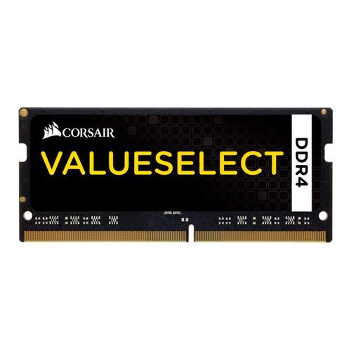 Memória RAM Value Select color Preto  8GB 1x8GB Corsair CMSO8GX4M1A2133C15