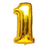 Balão Metalizado Número 1 - Dourado 110 Cm 45