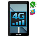 Tablet Função Celular 2 Chips Internet 4g Quadcore 2 Câmeras