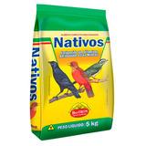 Ração Nativos Para Pássaros Sabiá Pássaro-preto Azulão 5kg