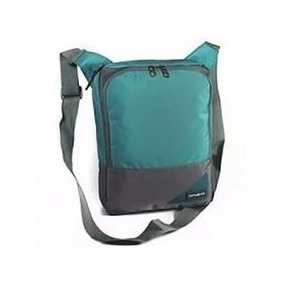 Morral Bolso Porta Tablet Samsonite Color Turquesa/gris Orig