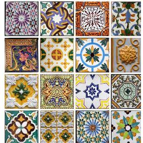 Papel De Parede Azulejos Hidráulicos Portugueses Autoadesivo