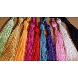 Borlas De Hilo De Seda.gran Variedad De Color. 25 Unidades