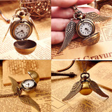 Collar + Reloj Quidditch Ball Bronce Harry Potter