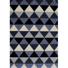 alfombra carpeta moderna 2396 negra gris 120x170 kreatex - Alfombra Moderna