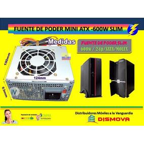 Fuente De Poder 600 Watts Slim 20/24 Pin Micro Atx