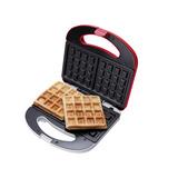 Máquina De Waffle Cadence, Vermelho E Branco, Waf100,