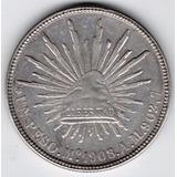 Moneda República Mexicana Peso 1908 Plata Pa3a