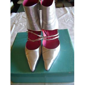 Botas Stiletto Plateadas N°39. Impecables!!! Sibyl Vane
