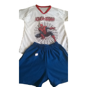 Kit Com 7 Pijama Infantil Personalizado, Malha Flame