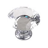 Puxador Cristal 30 Mm Maçaneta Gavetas Móveis