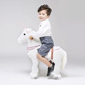 Caballo Pony Montable Ruedas Unicornio Camina Edad 3-5
