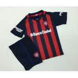 Nuevo Conjunto San Lorenzo Titular 2017 Camiseta+short Niños