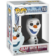 Boneco Funko Pop Disney Frozen Ii - Olaf With Bruni 733