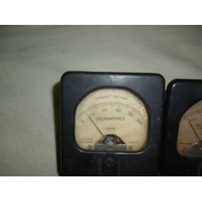Vu Analogico Amperimetro 100 E 500 Ma