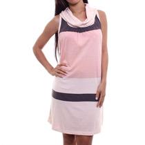 Vestido Checklist Stripe Rose Promoção