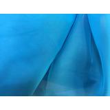 Tecido Voil Azul Turquesa Para Cortinas Com 3 Mts De Largura