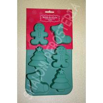 *molde Silicon 6 Figuras Navidad Chocolate Gelatina Fondant*