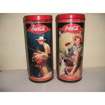 Lata Decorativa Coleccionable De Coca Cola 24cm Con Tapa