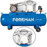 Compresor De Doble Cabezal En V 100lt Monofásico 3hp Foreman