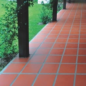 Ceramica Roja Lisa 33x33 Curado Industrial Interior Exterior