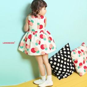 Vestido Infantil Rodado De Festa Dress Red Ballon - Importad