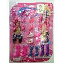 Tacones Zapatos Miniatura De Juguete Para Muñeca Barbie