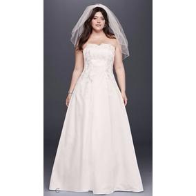 Vestido De Noiva Plus Size - Davids Bridal (22w - Xxg)- Novo