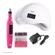 Kit Manicure Cabine Sun 5 48w E Lixa Profissional Elétrica