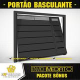 Projeto Portão Basculante + 1800 Modelo Portões Grade Escada