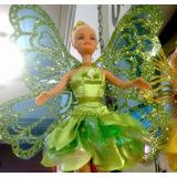 Boneca Fada Sininho - Peter Pan Disney Roupa Cetim Finissimo