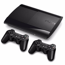 Ps3 Super Slim 500 Gb+80 Jogos Originais+2 Controles + Gta 5