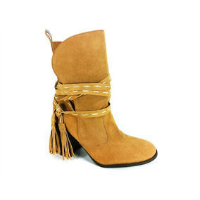 Bota Cano Médio Rr Shoes Inverness Bege