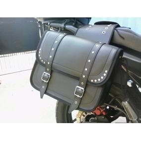 Alforjas Moto Choper/ Custom Grandes Cuero Ecologico