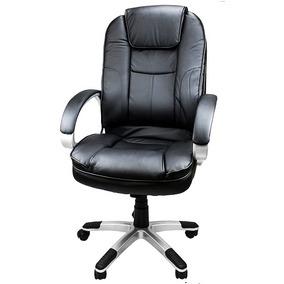 Cadeira Presidente Em Couro Sintético Preto