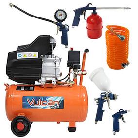 Compressor 25 L Vulcan 2,5 Hp 220v C/ Kit Acessórios 5 Peças