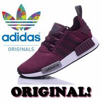 Tênis - Adidas Originals Nmd Vinho Lançamento - Na Caixa