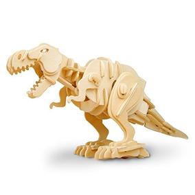 Robotime De Madera Que Muerden T-rex Dinosaurio 3d Puzzle Re