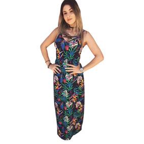 Vestido Longo Com Fenda E Detalhe X Moda 2018